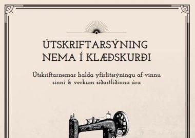 útskriftarsýning klæðskurður vor 2018