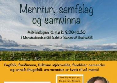 Ráðstefna, Menntun, samfélag og samvinna - veggspjald
