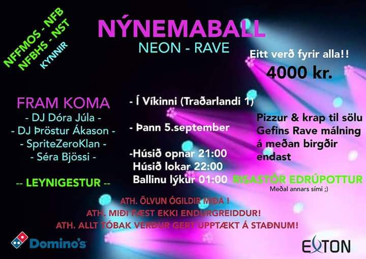 Nýnemaball 5. september